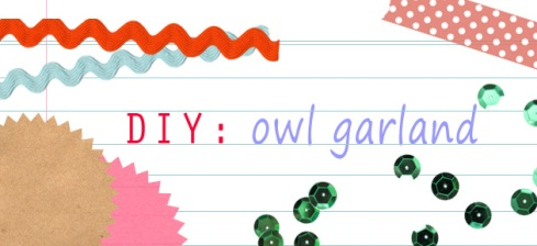 DIY: Owl Garland